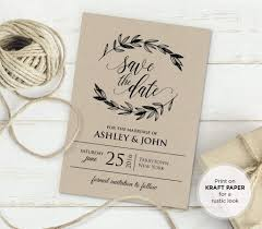 Free Rustic Vintage Wedding Invitation Templates
