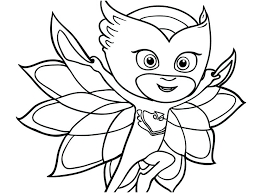 Pj Masks Coloring Pages Black And White Fresh Logo Clipart Printable Games Pics Book 542