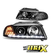 audi a4 b5 99 01 black led projector headlights