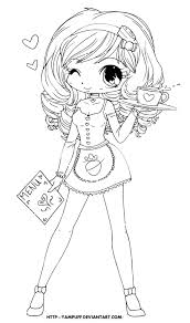Deviantart Coloring Book Chloe Lineart By Yampuff On