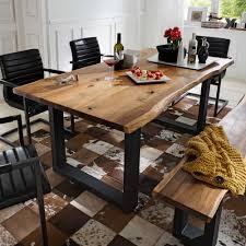 esszimmertisch mit baumkante akazie massivholz tisch kaufen de