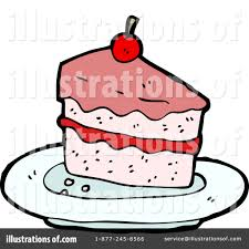 Royalty Free RF Cake Clipart Illustration by lineartestpilot