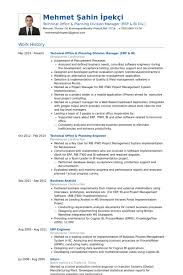 Technical Office Planning Division Manager Erp Bi Resume Samples