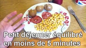 manger équilibré sans cuisiner recette de petit déjeuner équilibré en moins de 5 minutes maigrir