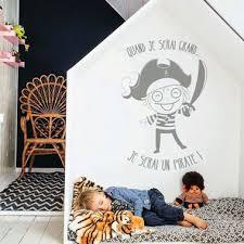 chambre enfant pirate sticker chambre enfant pirate quand je serai grand chambre