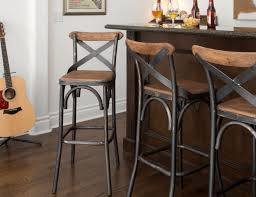 30 Square Wood Back Seat Bar Stool High Chair Kitchen Metal Rustic Industrial Kosas