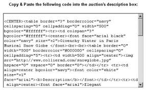 You Can Copy And Paste This Code Directly Into The EBay Description Area Of Sell Your Item Form Or Any Listing Tool Also Add HTML Codes