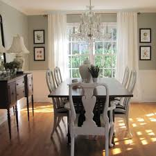 Beautiful Dining Room Paint Color Ideas With Enchanting Painting Colors Dark Furniture Wooden Table White Chairs