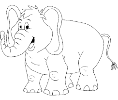 Elephant Coloring Pages For Toddlers