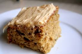 Applesauce spice cake with cinnamon cream cheese frosting Broma