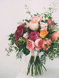 Spring Bridal Bouquet With Cascading Foliage