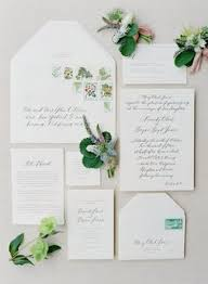 Gorgeous selection of green wedding invitations from Elli