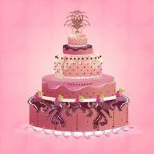 Cute and tasty birthday cake illustration Free vector