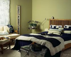 Bedroom Warm Green Colors Terracotta Tile Throws Lamp Cork Area