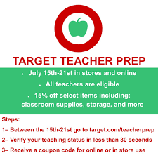 The Homeschool Gossip: Target Teacher Prep Event July 15-21 Is OPEN ... Hanes Panties Coupon Coupons Dm Ausdrucken Target Video Game 30 Off Busy Bone Coupons Target 15 Off Coupon Percent Home Goods Item In Store Or Online Store Code Wedding Rings Depot This Genius App Is Chaing The Way More Than Million People 10 Best Tvs Televisions Promo Codes Aug 2019 Honey Toy Horizonhobby Com Teacher Discount Teacher Prep Event Back Through July 20 Beauty Box Review March 2018 Be Youtiful Hello Subscription 6 Store Hacks To Save More Money Find Free Off To For A Carseat Travel System Nba Codes Yellow Cab Freebies
