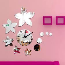 kreative wanduhr für esszimmer wohnzimmer schlafzimmer wanduhr deco handwerk uhr bauhinia spiegel wanduhr aufkleber
