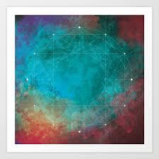 100 Natural Geometry Art Print