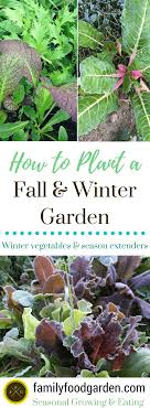 How To Plant Your Fall And Winter Garden Family Food Garden