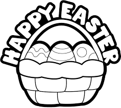 Amazing Happy Easter Clipart Black And White