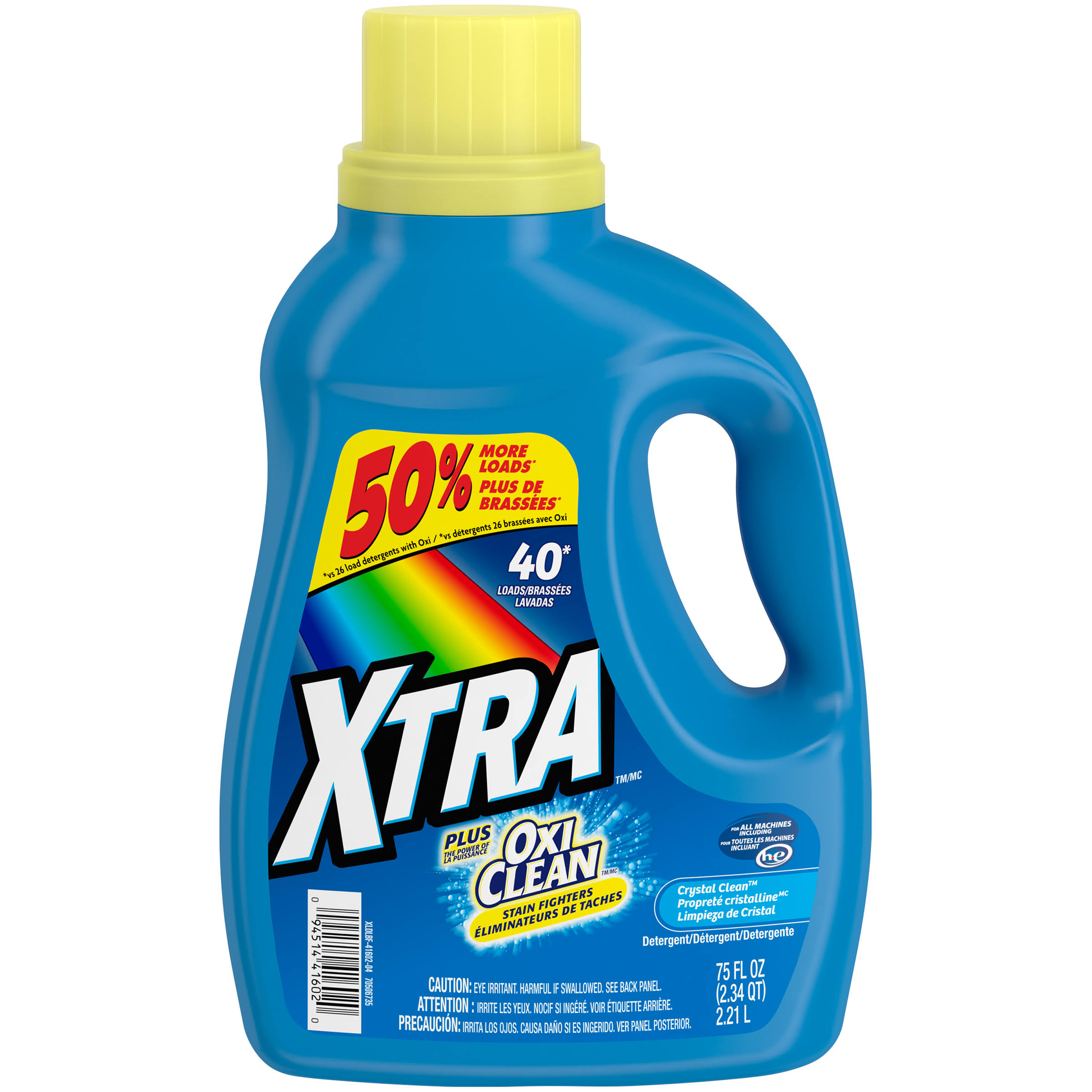 Xtra Crystal Clean Laundry Detergent Plus Oxi Clean - 58oz