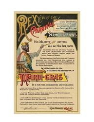 orleans convention visitors bureau rex king of carnival issues official invitation to mardi gras