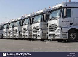 100 German Trucks BURG GERMANY JUNE 11 2017 German Mercedes Benz Actros Trucks