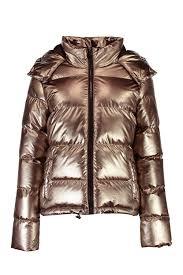 Text Decoration Underline Padding by Boohoo Karina Metallic Padded Coat Pewter Winter Jackets