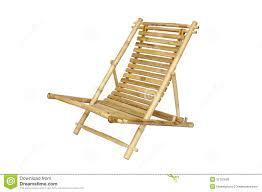 chaise longue en bambou d isolement photo stock image 31197600
