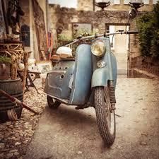 France Photography Travel Vintage Vespa Rustic Pastel Blue Sepia