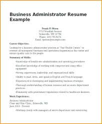 Business Administration Resume Examples By C