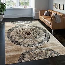 teppich wohnzimmer teppich braun beige