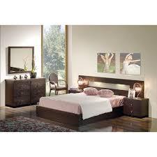 chambre wengé chambre adulte contemporaine lit 120 à 200cm 2 chevets 2