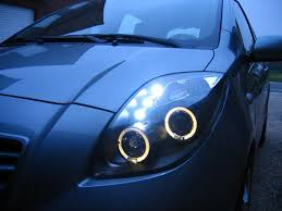 06 07 08 toyota yaris 3 door hatchback led halo projector