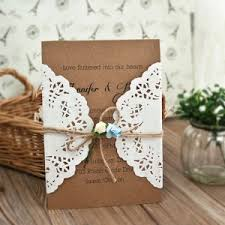 Rustic Lace Twine Wedding Invitations EWLS054