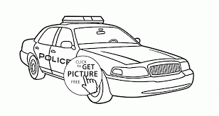 Awesome Police Car Coloring Pages 61 With Additional Free Kids