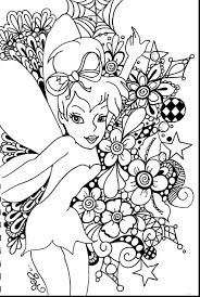 Marvelous Tinkerbell Coloring Pages With Free Online And Princess
