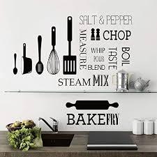 decalmile wandtattoo küche zitate wandaufkleber küchengeschirr briefe wandsticker esszimmer wohnzimmer küchen wanddeko