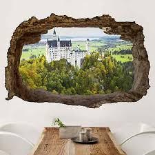 3d wandtattoo schloss neuschwanstein panorama quer 2 3 wandaufkleber deko ebay