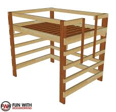 Full Size Loft Bed – Full Plans – FUN WITH WOODWORKING