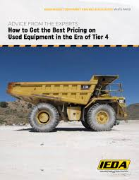 IEDA Issues Guide For Best Prices On Used Equipment In Tier 4 Era