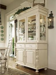 ceiling luxury white wood buffet hutch with cabinet glass door