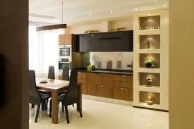 Decorative Niche Design Kitchen Modern With Sheer Furniture Interior Recessed Shelves