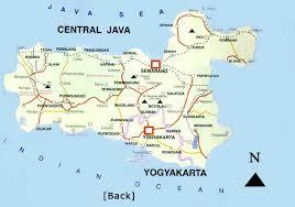 Yogyakarta Central Java Map