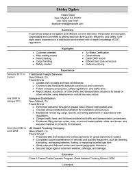 Truck Driver Resume Format Cdl Class Sample Resum Bus Template School Templates Medium Size