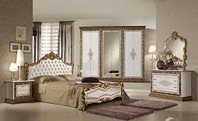 schlafzimmer in weiss creme gold komplett klassik