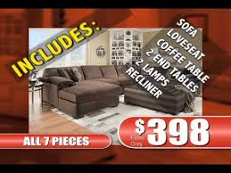 american freight furniture 7 piece living room commercial youtube