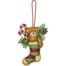 Amazoncom Dimensions Counted Cross Stitch Teddy Bear Ornament Kit