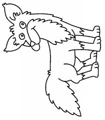 Fox In Socks Homework Coloring Sheet Pages Printable Within For