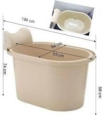 small soak portable bathtub fits condo hdb bathroom