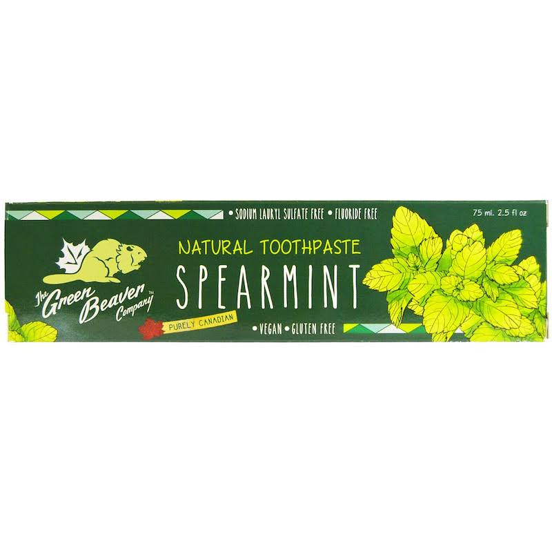 Green Beaver Spearmint Toothpaste, 2.5 fl oz